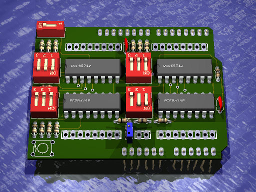 Project #016 - Arduino I2C 32ch Digital I/O Extender Board